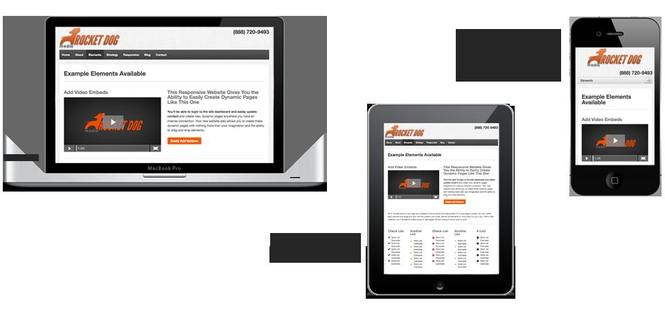 Responsive Design on iPad iPhone and Macbook Pro